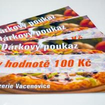 Pizzerie Vacenovice - Dárkový poukaz v hodnotě 100 Kč