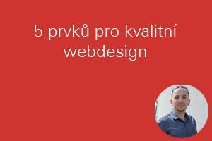 5 prvků pro kvalitní webdesign