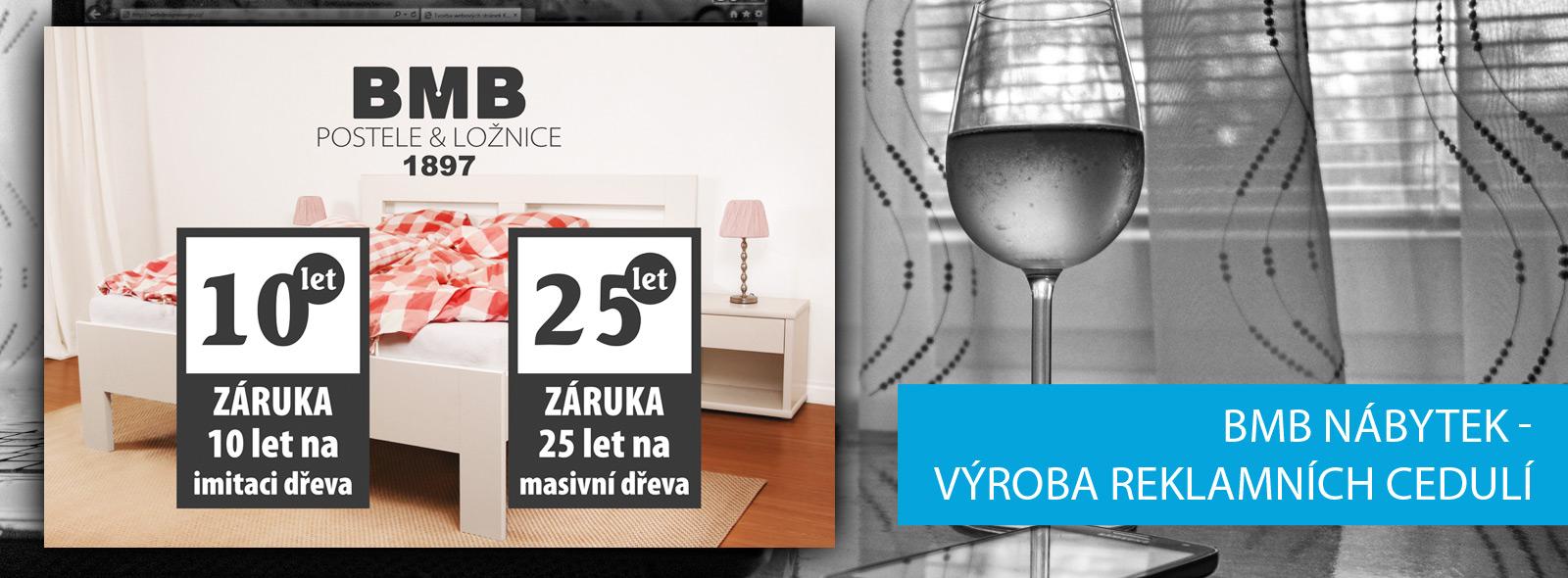 BMB nábytek - výroba reklamních cedulí