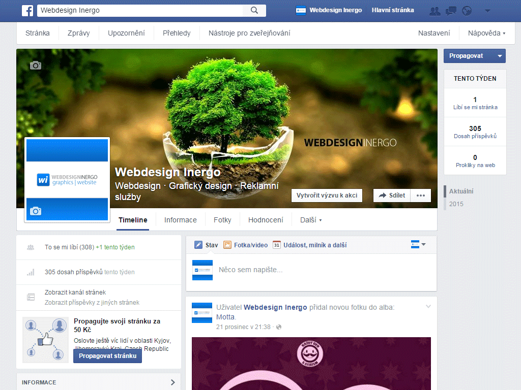 Facebook - Webdesign Inergo