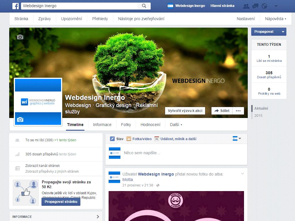 Facebook - Webdesign Inergo
