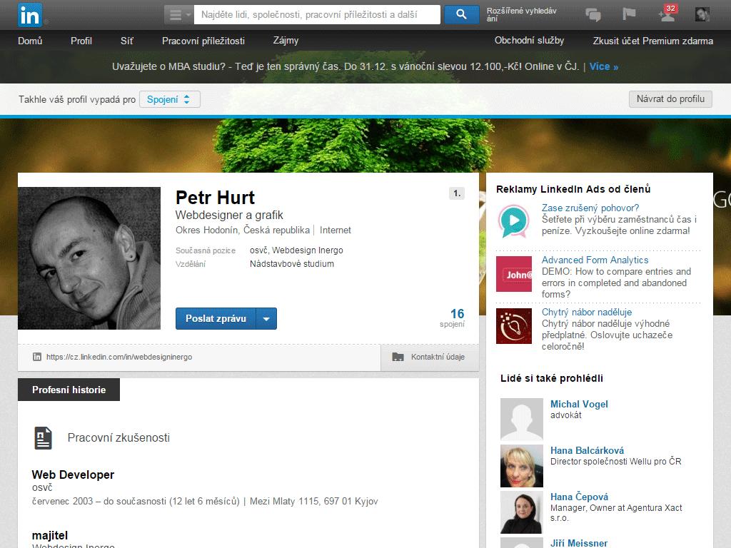 LinkedIn - Webdesign Inergo